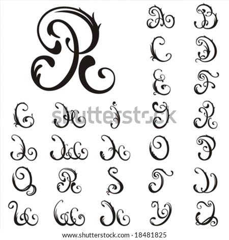 Vector. All Capital Letter For Your Fairytale - stock vector