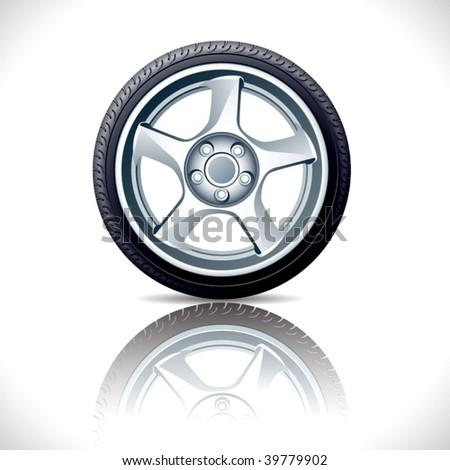 Vector alloy wheel. - stock vector