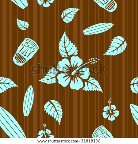 Vector aloha seamless pattern - stock vector