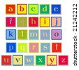 Vector Alphabet Blocks - stock vector