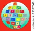 Vector Alphabet Blocks - stock photo