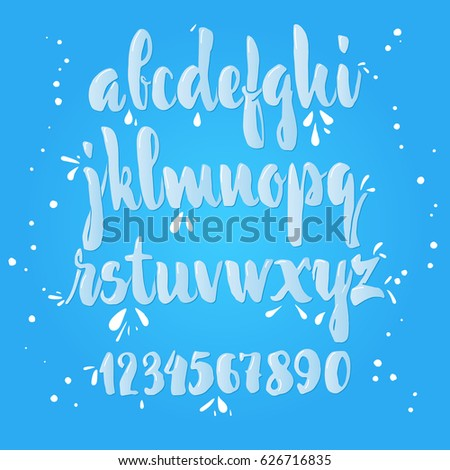 Calligraphic Milk Font Unique Custom Characters Hand Lettering For Designs
