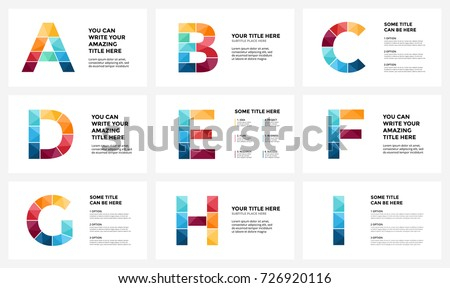 vector alphabet infographic presentation slide template stock, Presentation templates