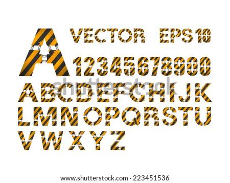 Vector Alphabet Set - stock vector