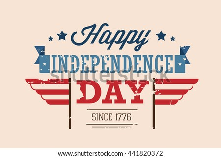 vector america independence day illustration