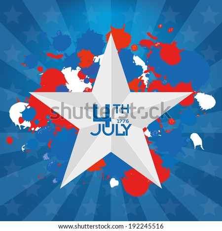 Vector American Independence Day Background Editable  - stock vector