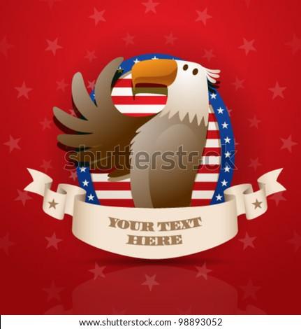 Vector American patriotic eagle - stock vector