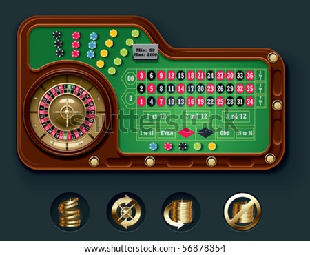 Vector American roulette table layout - stock vector