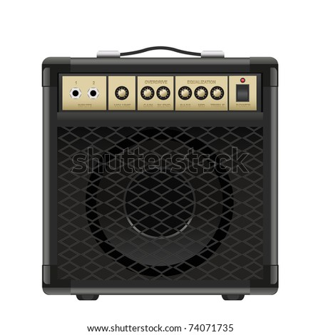 vector amplifier isolated on a white background
