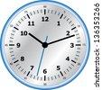 Vector analog clock - stock photo