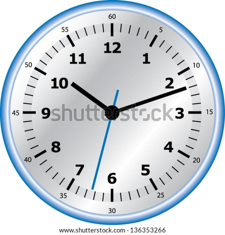 Vector analog clock - stock vector