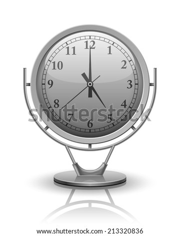 Vector Analog Clock conceptual, 3D modern construction, Vector illustration Eps 10 - stock vector