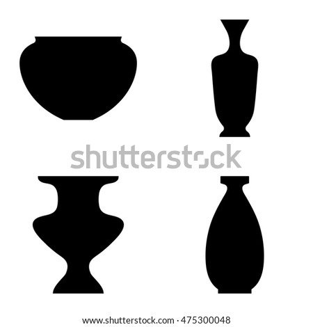 Vector Ancient Greek Vase Icons Interior Stock Vector 475300048