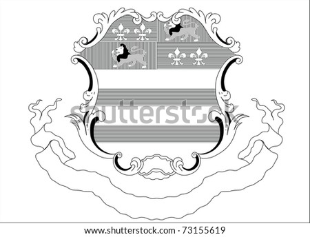 vector ancient heraldic illustration - stock vector