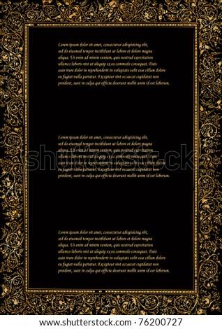 vector ancient luxury golden frame - stock vector