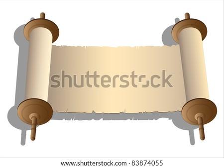 Vector ancient scrolls - stock vector