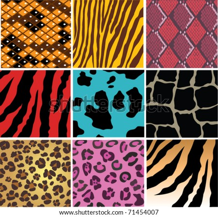vector animal skin texture - stock vector