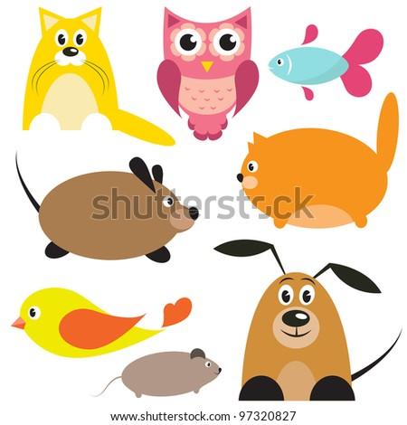 vector animals - stock vector