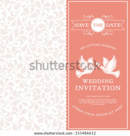 Vector anniversary card with floral ornament design. - stock vector