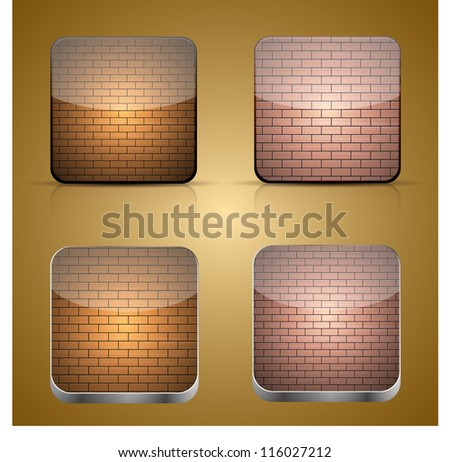 Vector app brick icon