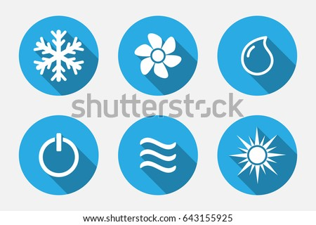 Cooling  >> Vector Application Heating Cooling Icons Set Stock Vector Hd
