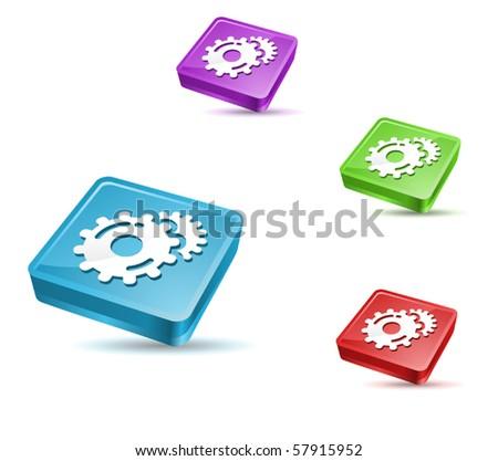 vector application icon set - stock vector