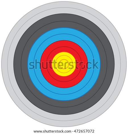 Vector archery on white background illustration.