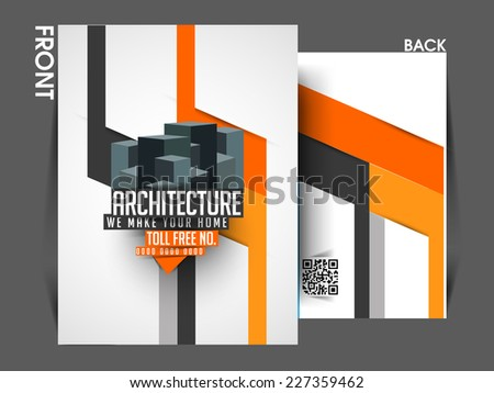 Vector Architecture Front Back Flyer Template Stock Vector