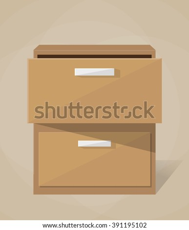 Vector archive filling cabinet  - stock vector