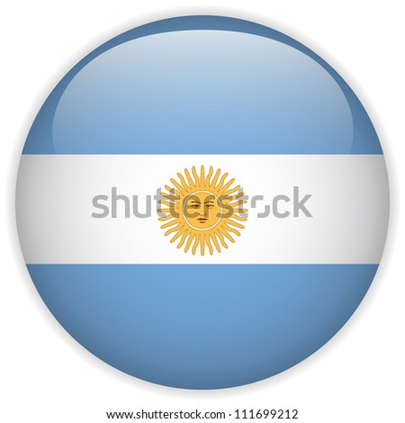 Vector - Argentina Flag Glossy Button