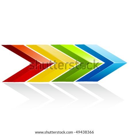 vector arrow - stock vector