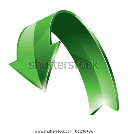 vector arrow - stock vector