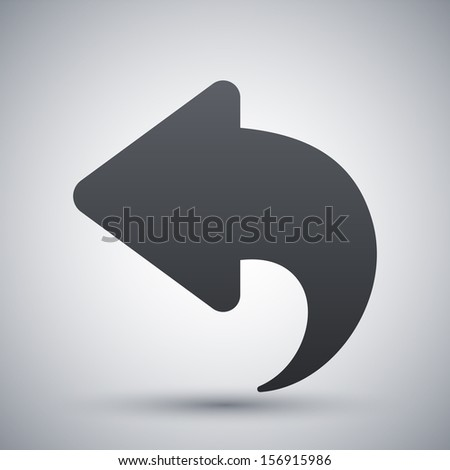 Back Icon Logo Vector Arrow Back Icon Stock