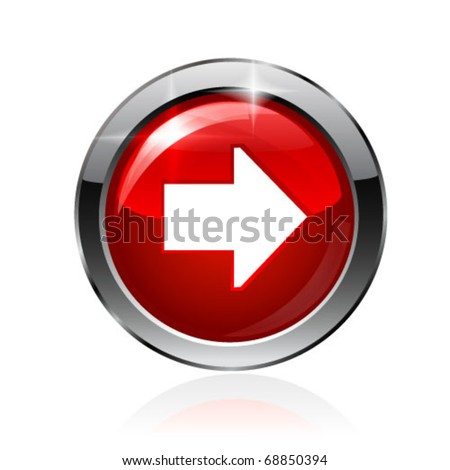Vector arrow button. Vector - stock vector