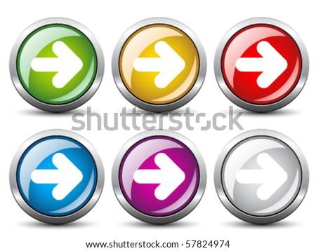 Vector arrow buttons - stock vector