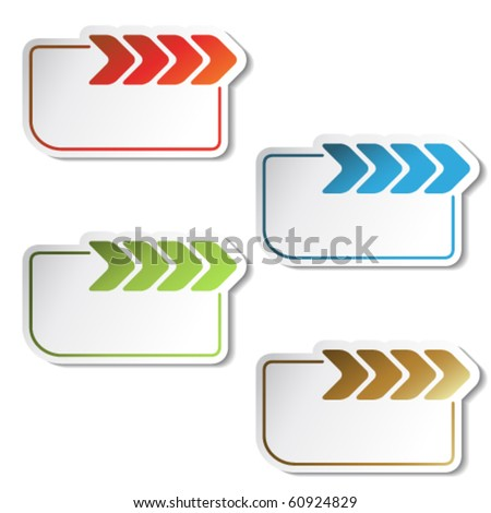 Vector arrow labels