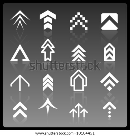 vector arrow logos - stock vector