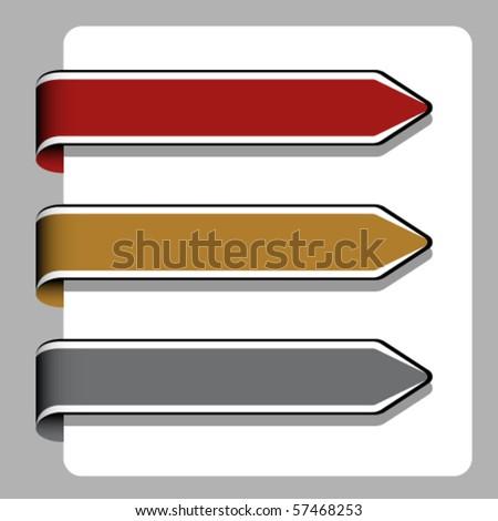 vector arrow ribbon signs - stock vector