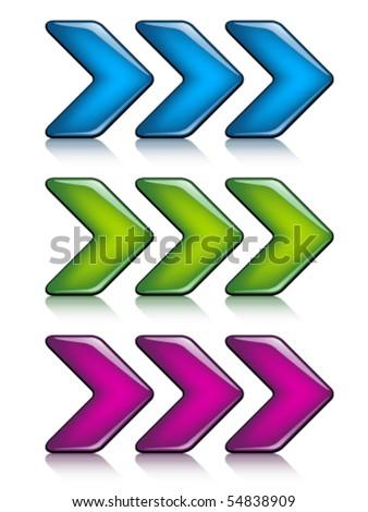 vector arrows - stock vector