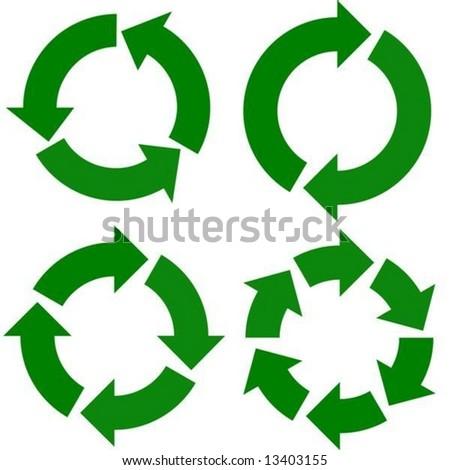 vector. arrows around circles - stock vector