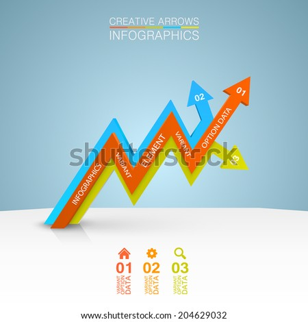 Vector arrows business growth. illustration - stock vector