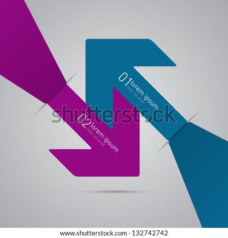 vector arrows design template - stock vector