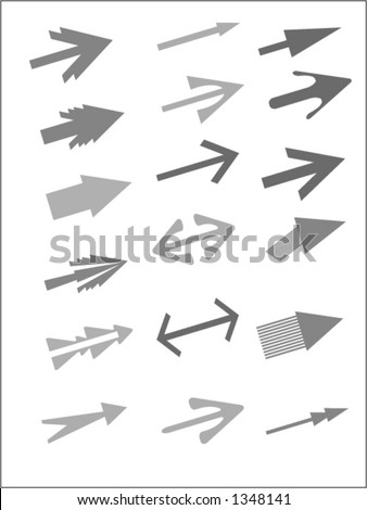 Vector arrows. You can change color and size as you wish. - stock vector