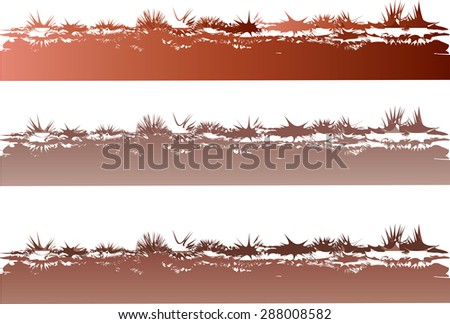 Vector art drawing beautiful grass line background
