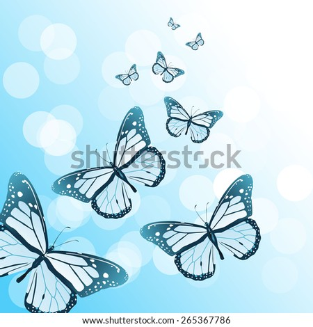 Vector art graphic illustration of butterfly background - stock vector