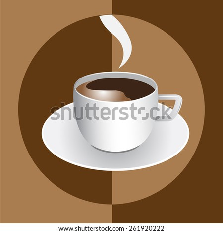 Vector art graphic illustration set of coffee cup