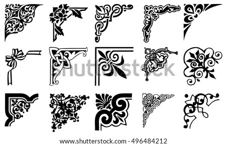 vector art borders corners graphic design stock vector royalty free rh shutterstock com royalty free vector clip art Royal Vector