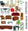 Vector Art of Furniture - stock vector