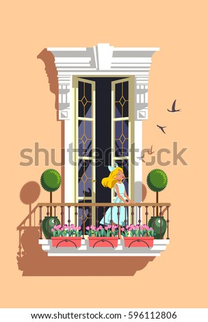 Balconies stock images royalty free images vectors for Balcony vector