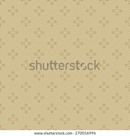 Vector Art. Seamless pattern. Template Background. Modern Wallpaper for your design. Image texture. Old style. For design of cards, invitations, book, web design, wallpapers for walls. Brown color - stock vector